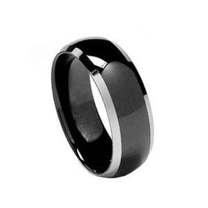 Black and silver band